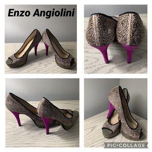 Enzo Angiolini Peep Toe high heels Shoe.